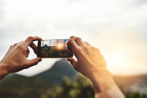 what's a getaway without the memories? - photo messaging stock photos and pictures