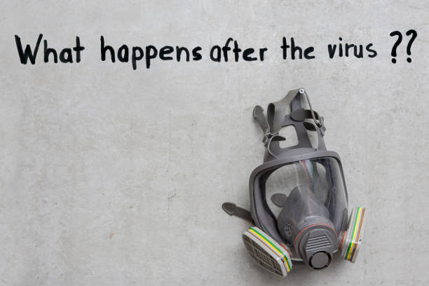 Whats happens after the virus. stock photo
