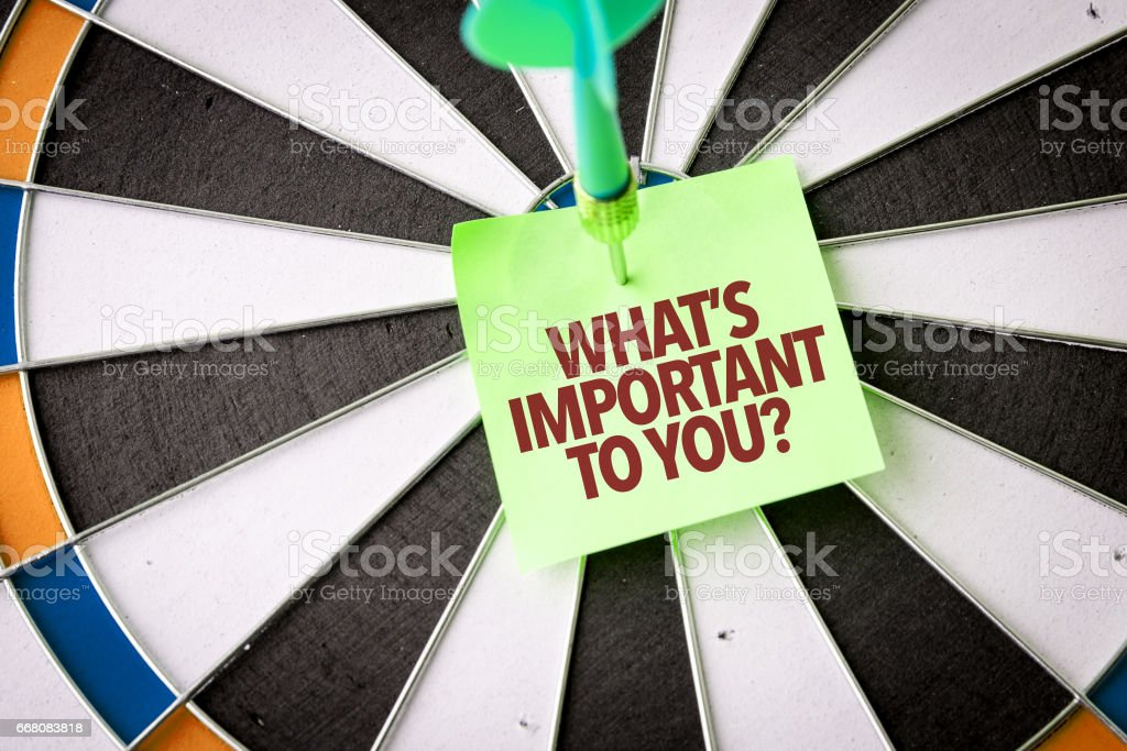Whats Important To You? stock photo