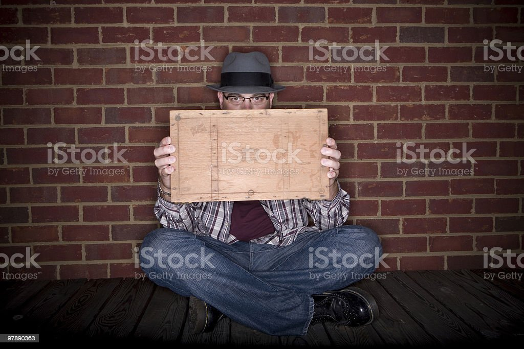 What's in the box, Boss? royalty-free stock photo
