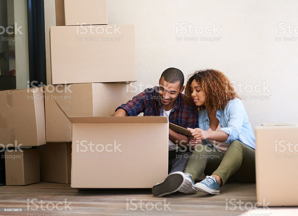What's in the box? stock photo