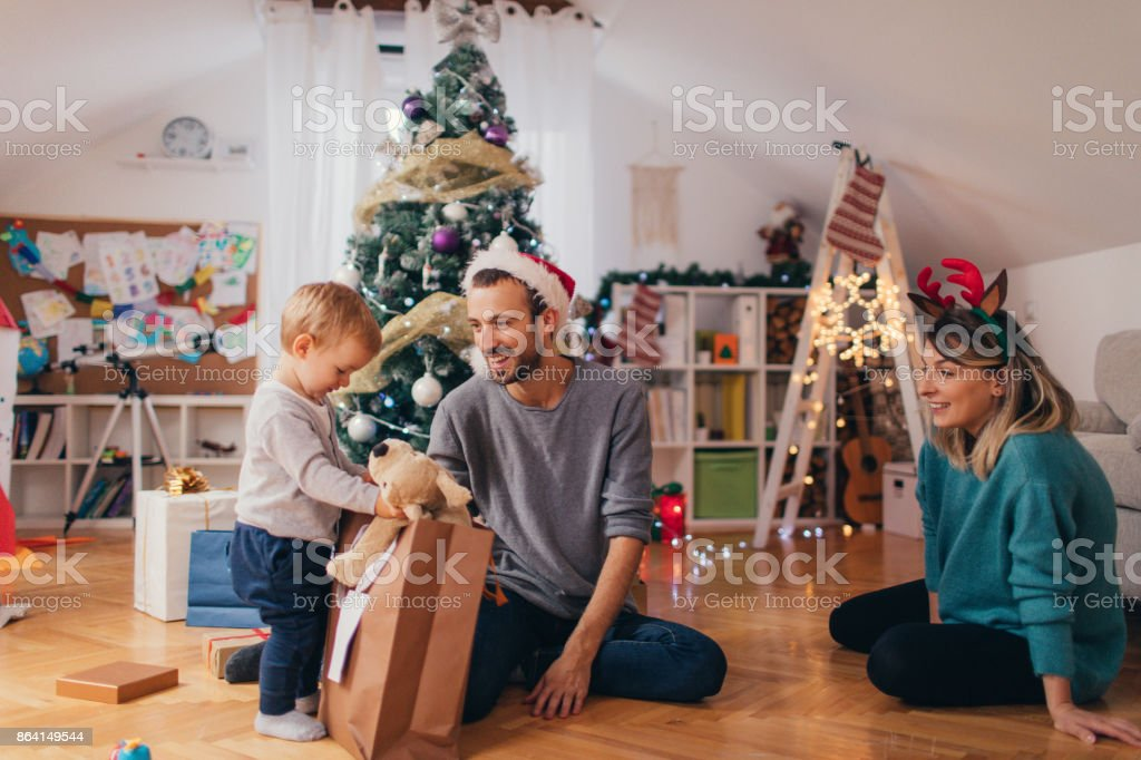 What's my Christmas present? stock photo