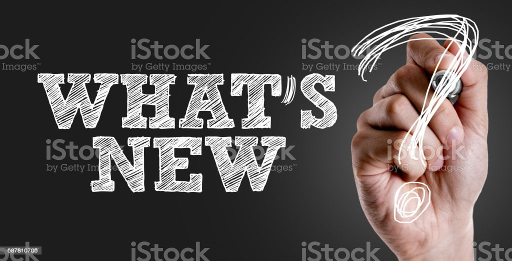 Whats New? stock photo