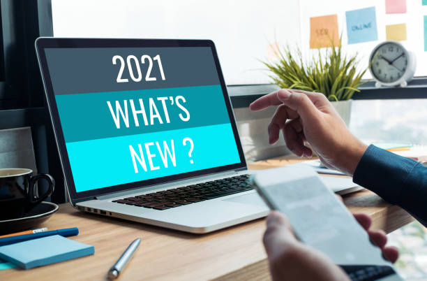 2021 what's new ? with business trend.creativity to success stock photo