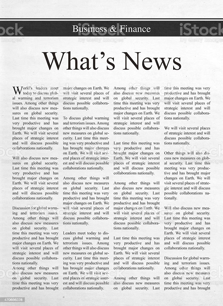 What's news stock photo