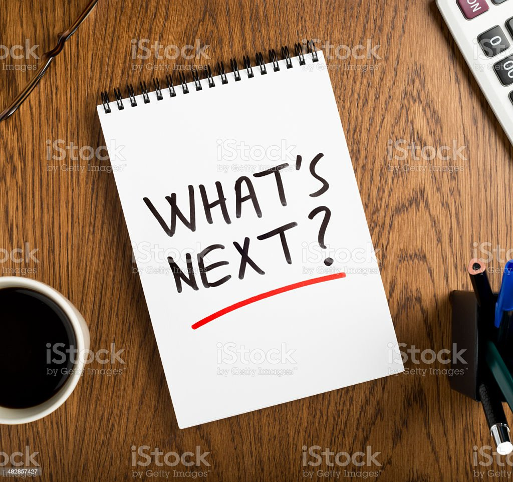 what's next? royalty-free stock photo