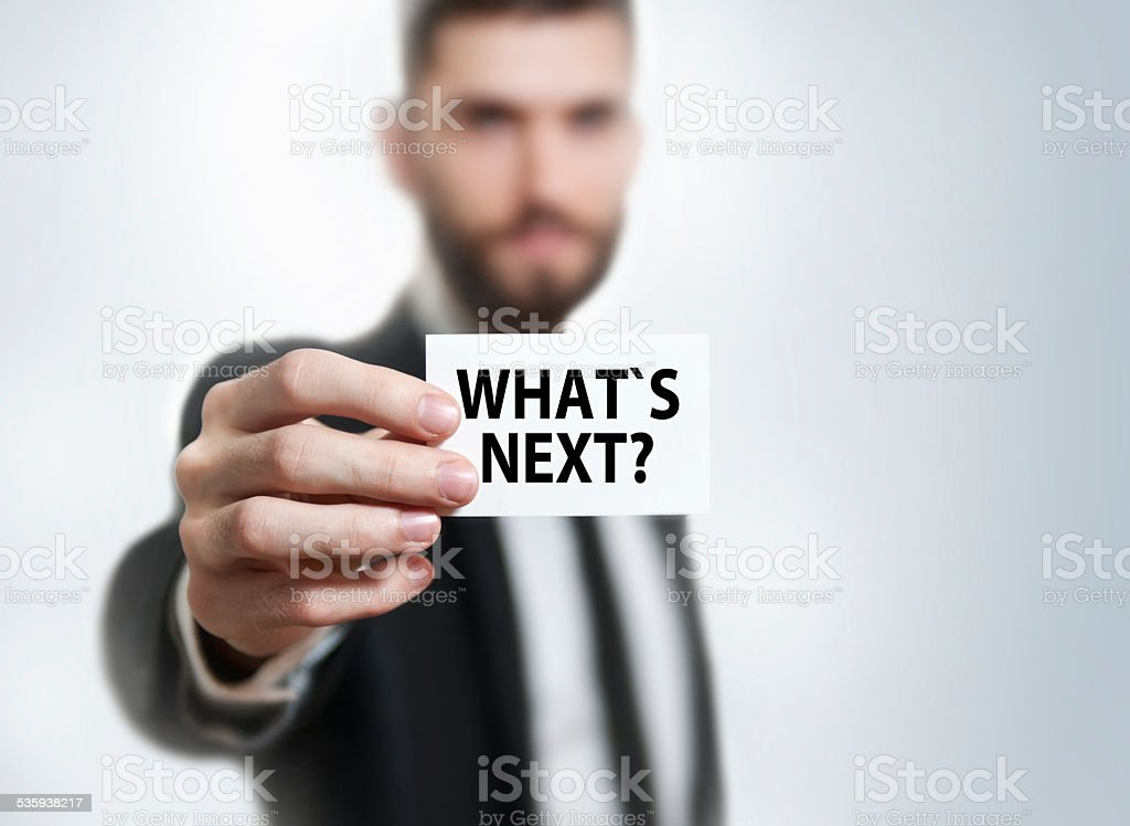 What`s next? (Click for more) stock photo