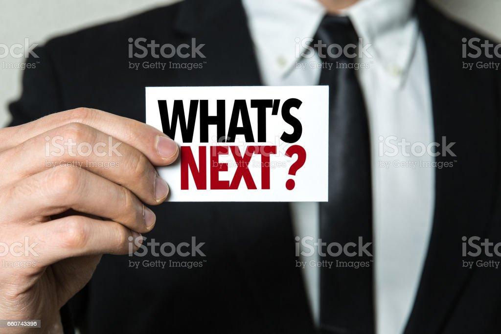 Whats Next? stock photo