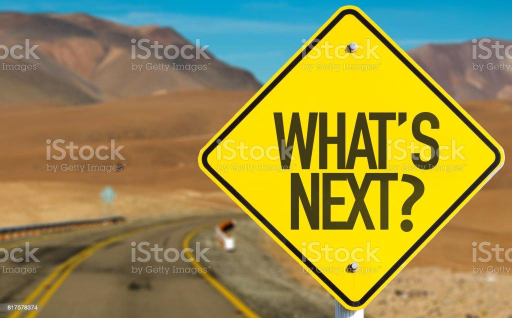 Vad är nästa? bildbanksfoto