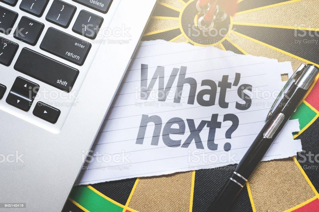 What's Next? stock photo