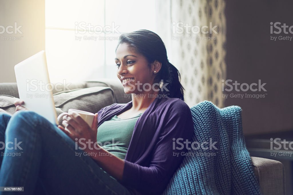 What's not to love about a lazy weekend indoors? stock photo