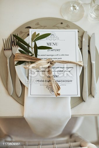 Shot of a decorated table at a wedding reception