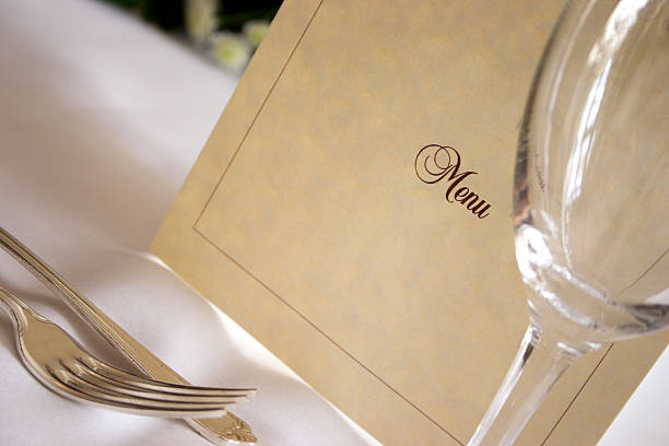 Whats on the menu..? stock photo