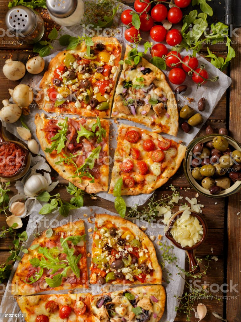 What's on your Artisan Pizza? stock photo
