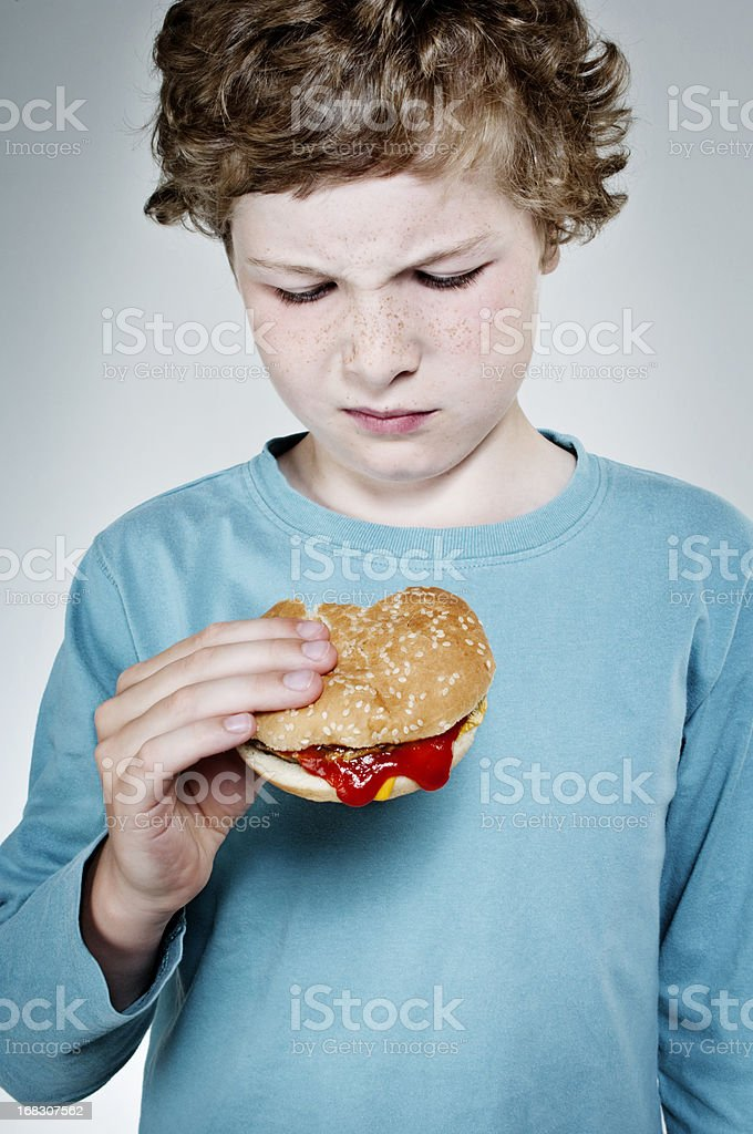 What's That In My Burger? stock photo
