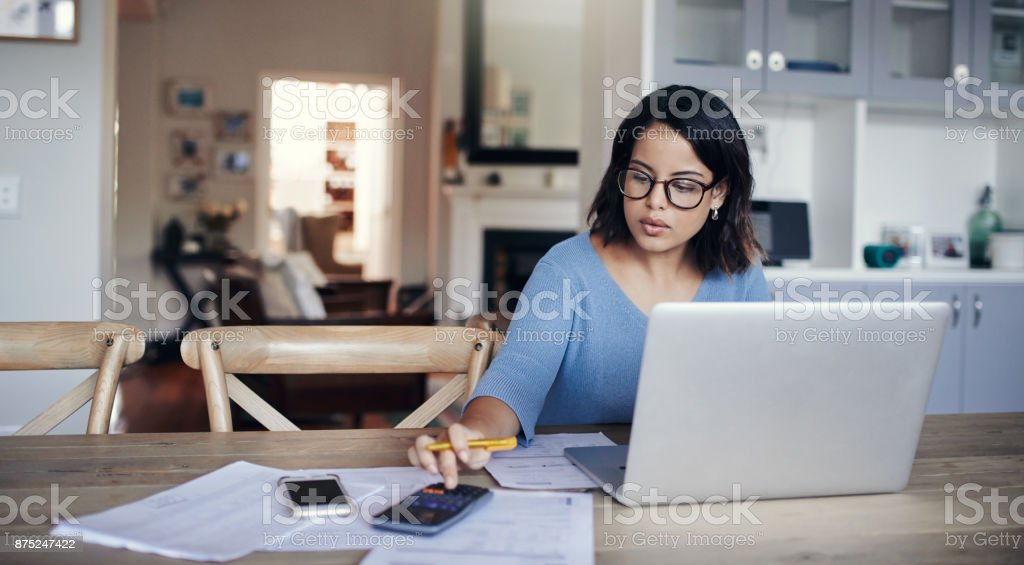 What's the budget looking like this month? stock photo