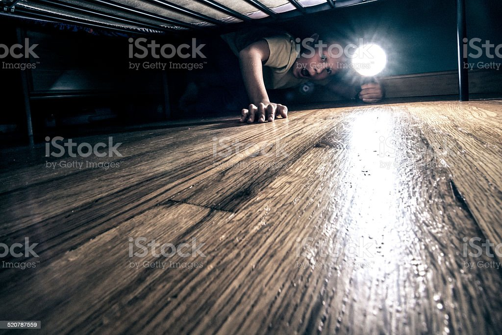 What's under your bed ?? stock photo