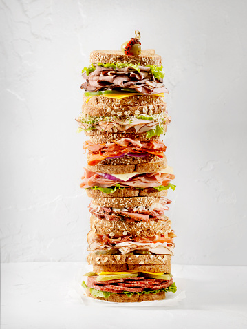 What's your Favourite Sandwich? Turkey, Roast Beef, Honey Ham, Black Forest Ham, prosciutto,Salami, or Maybe Corned Beef with Sauerkraut  -Photographed on Hasselblad H3D-39mb Camera