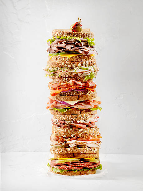 what's your favourite sandwich - tall high stock pictures, royalty-free photos & images