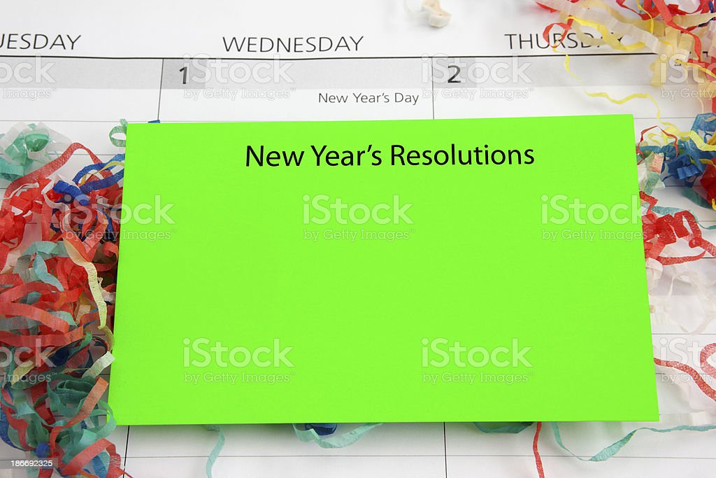 What's Your New Year's Resolution royalty-free stock photo