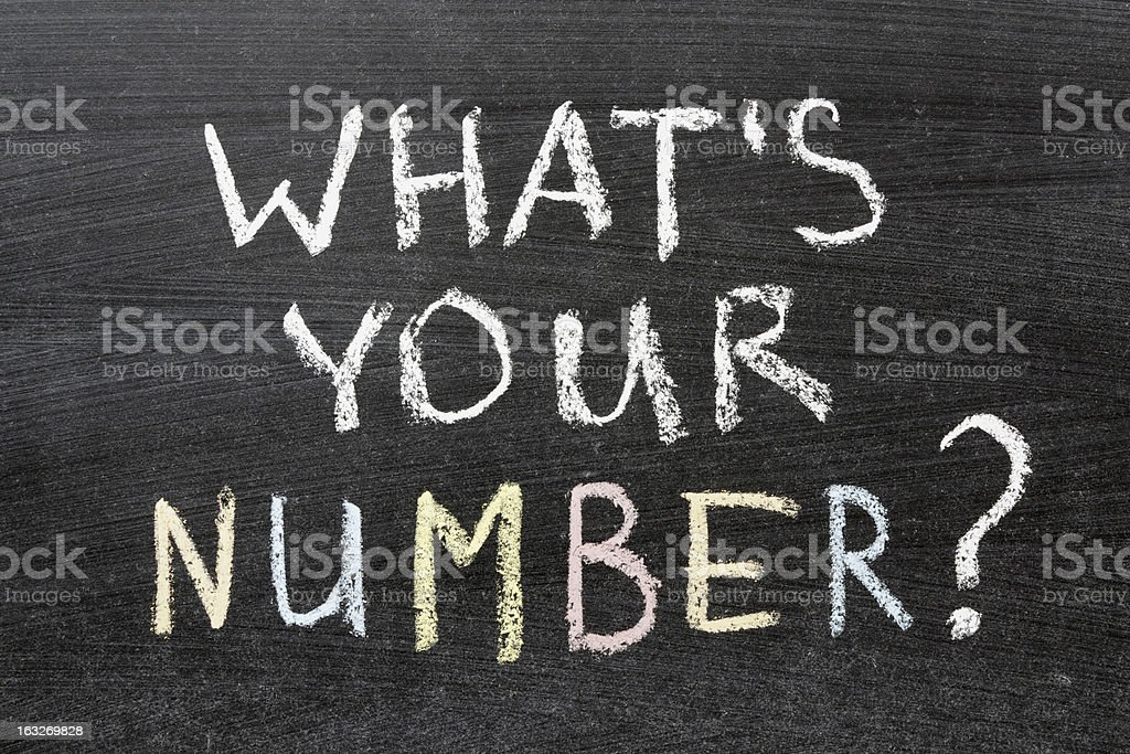 whats your number stock photo