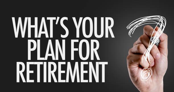 ¿Cuál es su Plan para la jubilación? - foto de stock