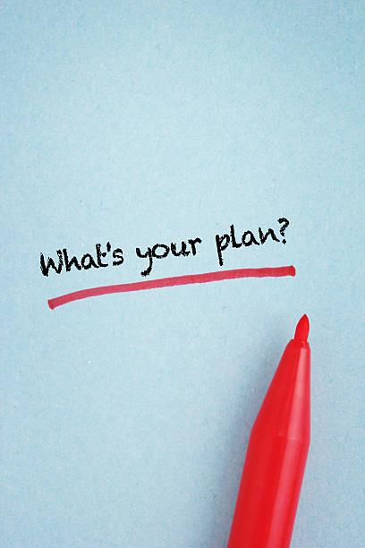 was ist dein plan? - sprüche zeit stock-fotos und bilder