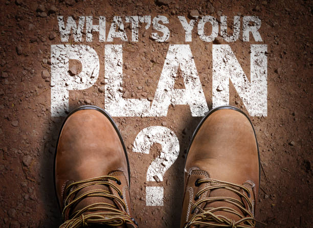 Whats Your Plan? stock photo