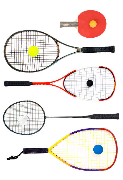 what's your racket - badminton sport stock pictures, royalty-free photos & images