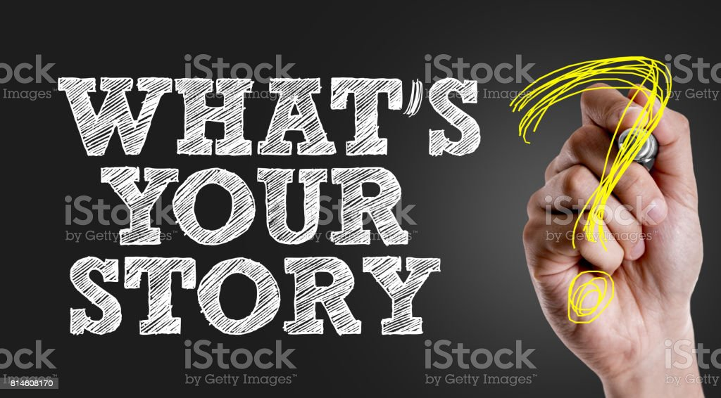 Whats Your Story? stock photo