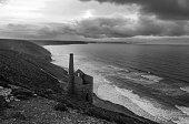 Wheal Coates, a nineteenth century abandoned tin mine, on the north Cornish coast, UK.