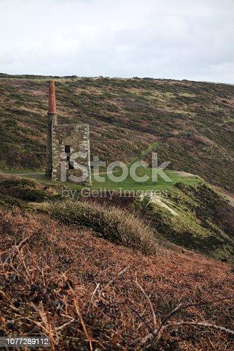 Wheal Prosper mine engine house Rinsey Cove Cornwall