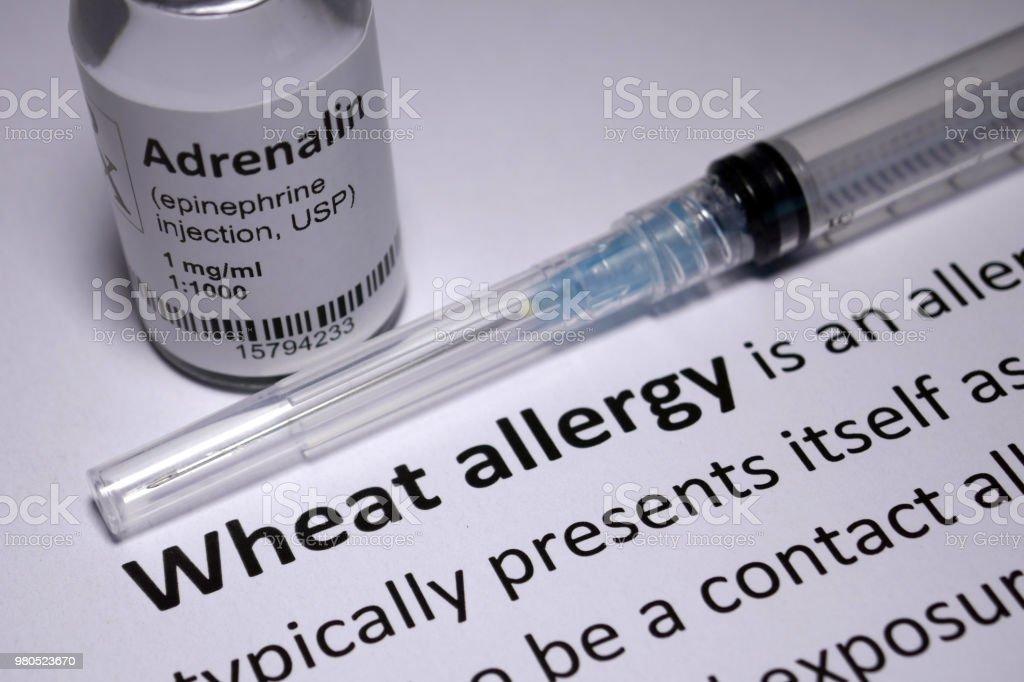 Wheat Allergy anaphylactic shock stock photo