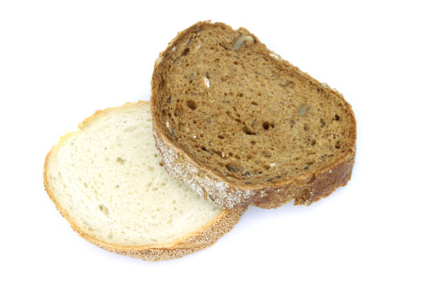 wheat and rye bread slices - pone stock photos and pictures