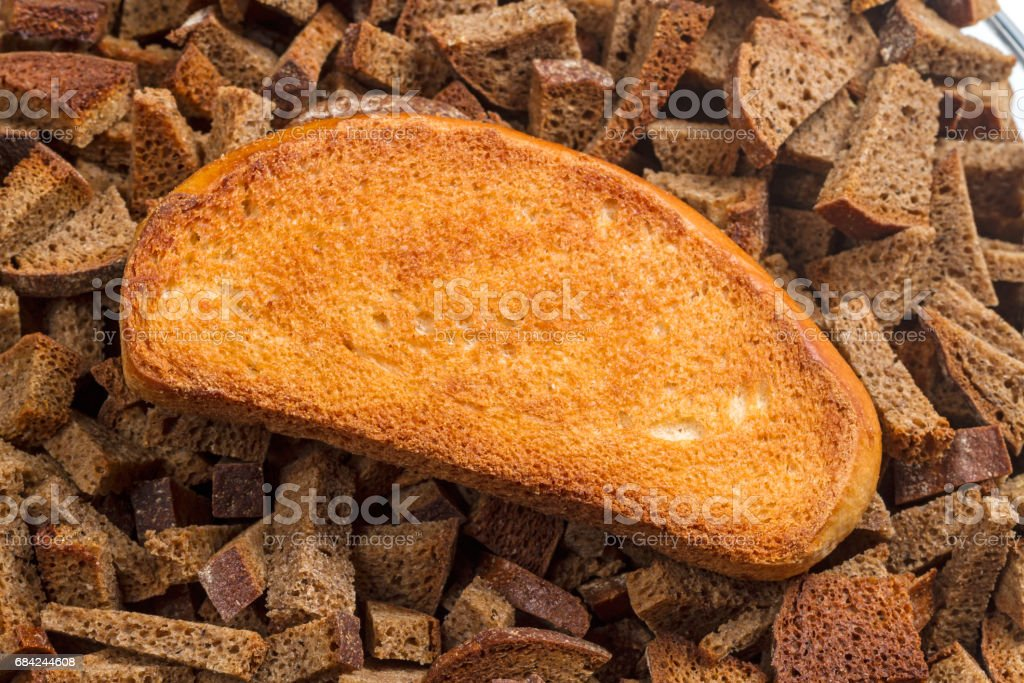 Wheat and rye rusks closeup royalty-free stock photo