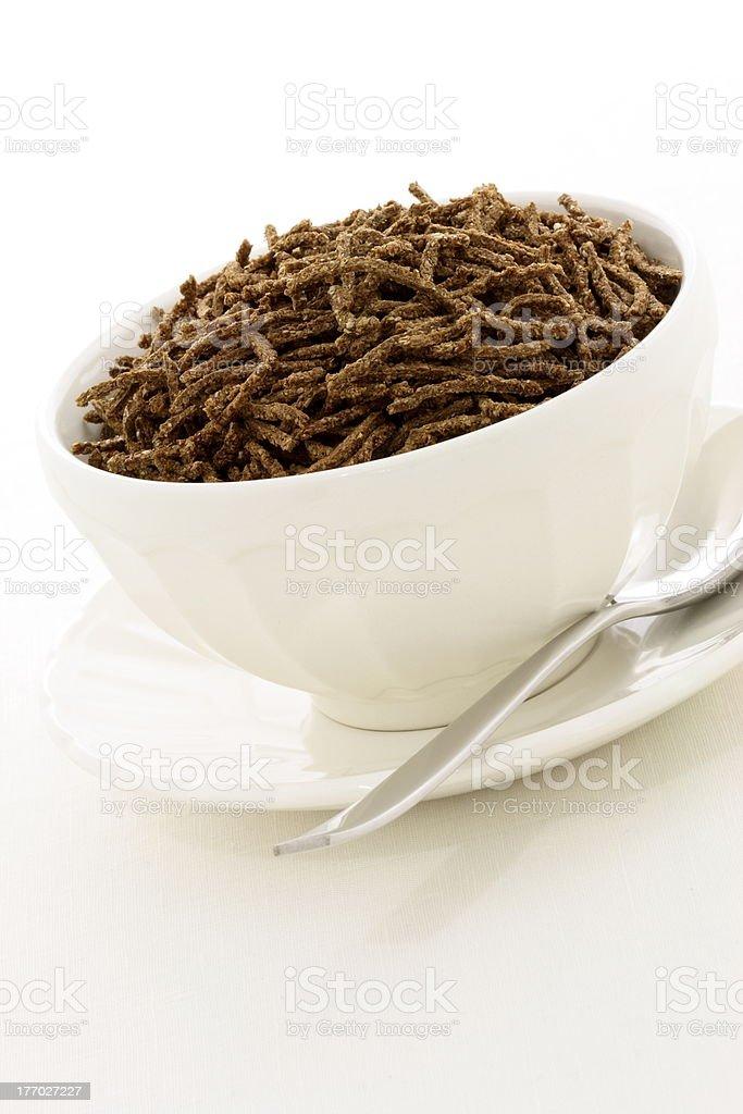 wheat bran cereal breakfast stock photo
