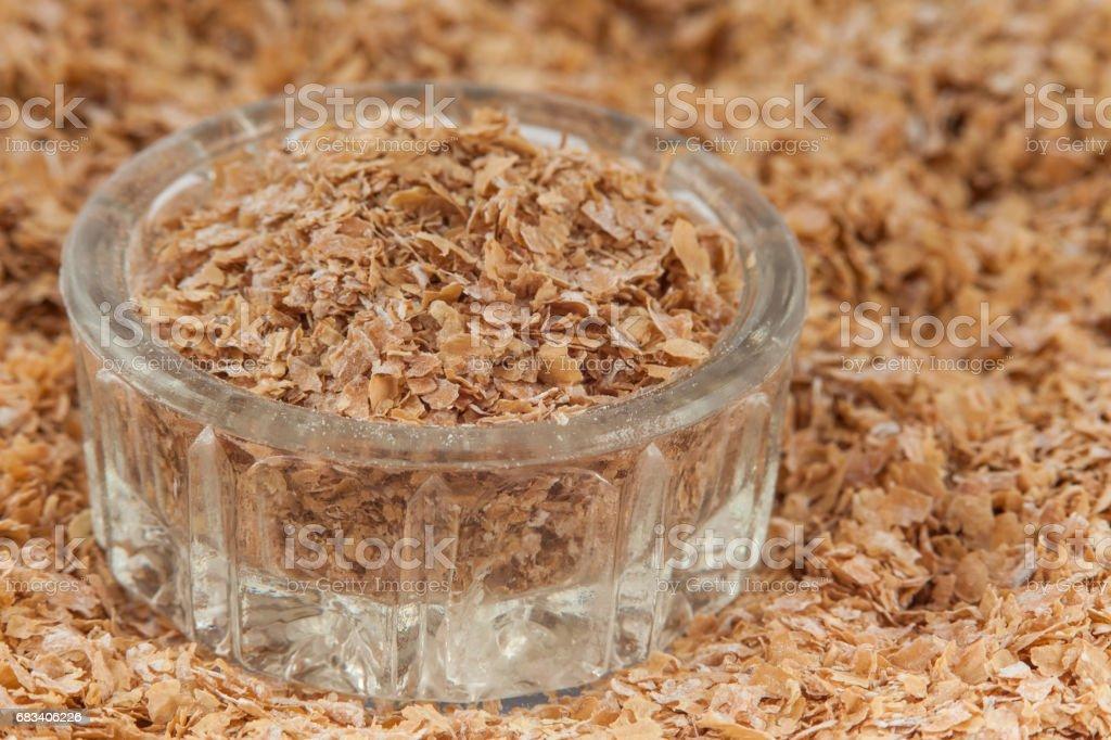 Wheat bran (Triticum aestivum) stock photo