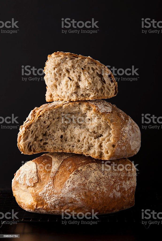 wheat breads stock photo