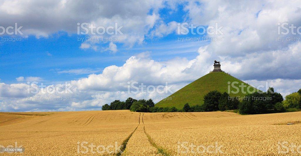 Wheat Fields of Butte Du Lion, Waterloo, Belgium stock photo