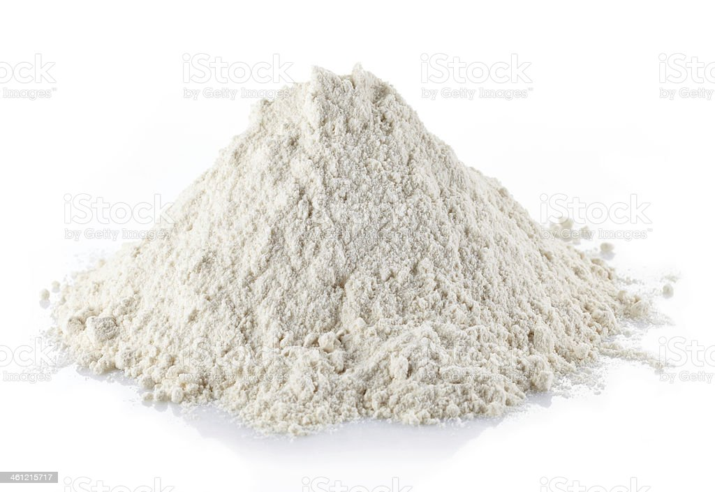 Wheat flour Heap of wheat flour isolated on white background Cut Out Stock Photo