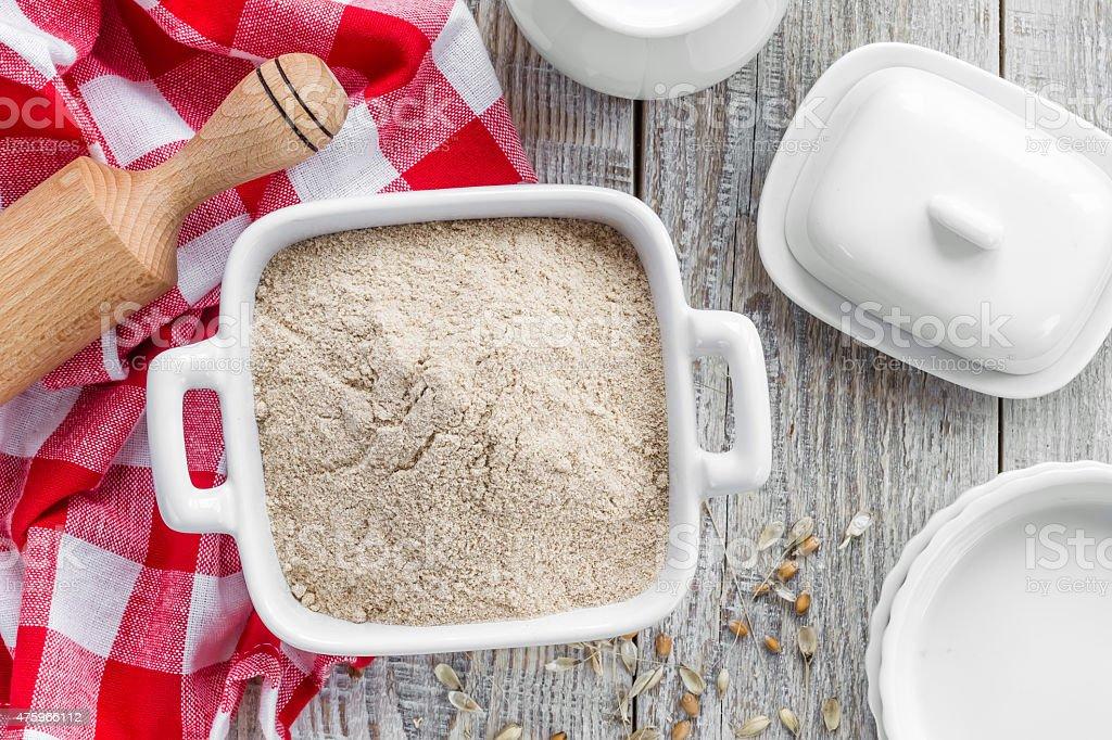 Wheat flour stock photo