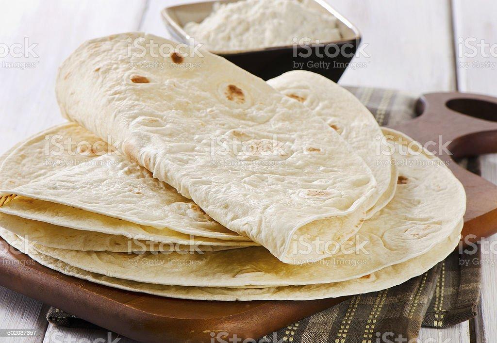 Wheat Flour Tortillas stock photo