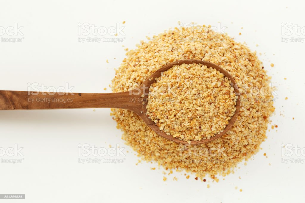 Wheat germ in spoon stock photo