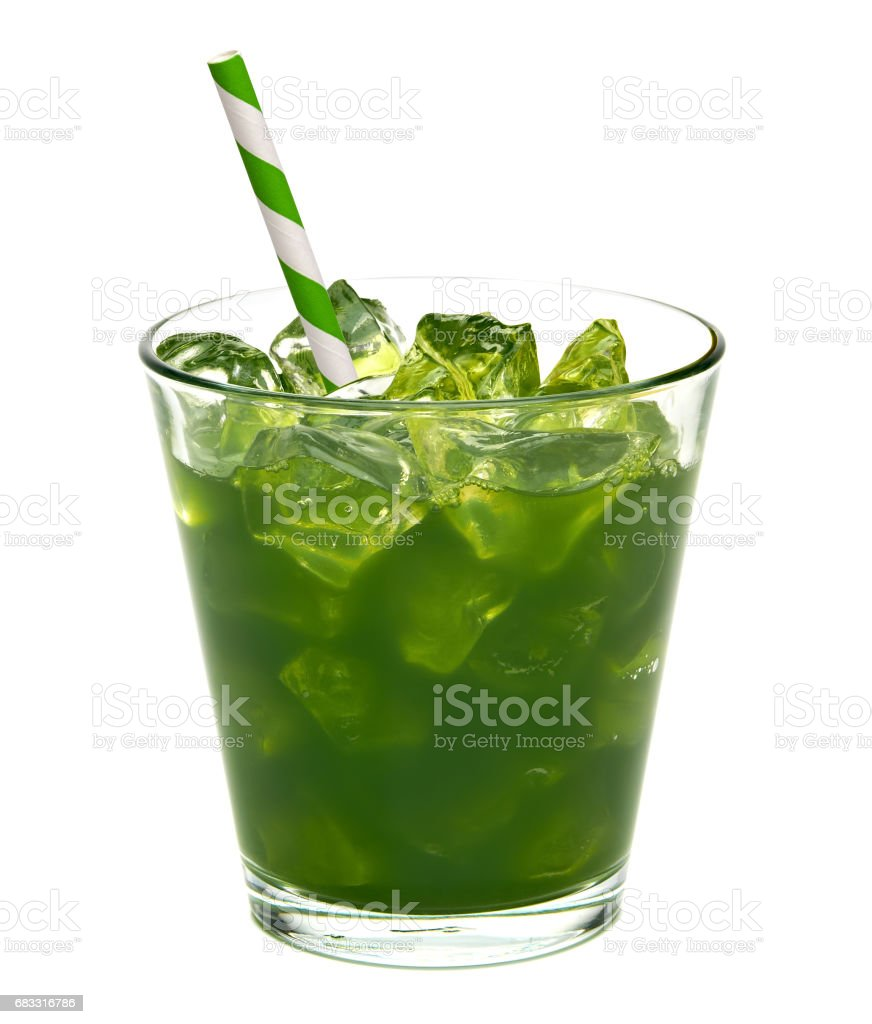 Wheat grass juice in glass royalty-free stock photo