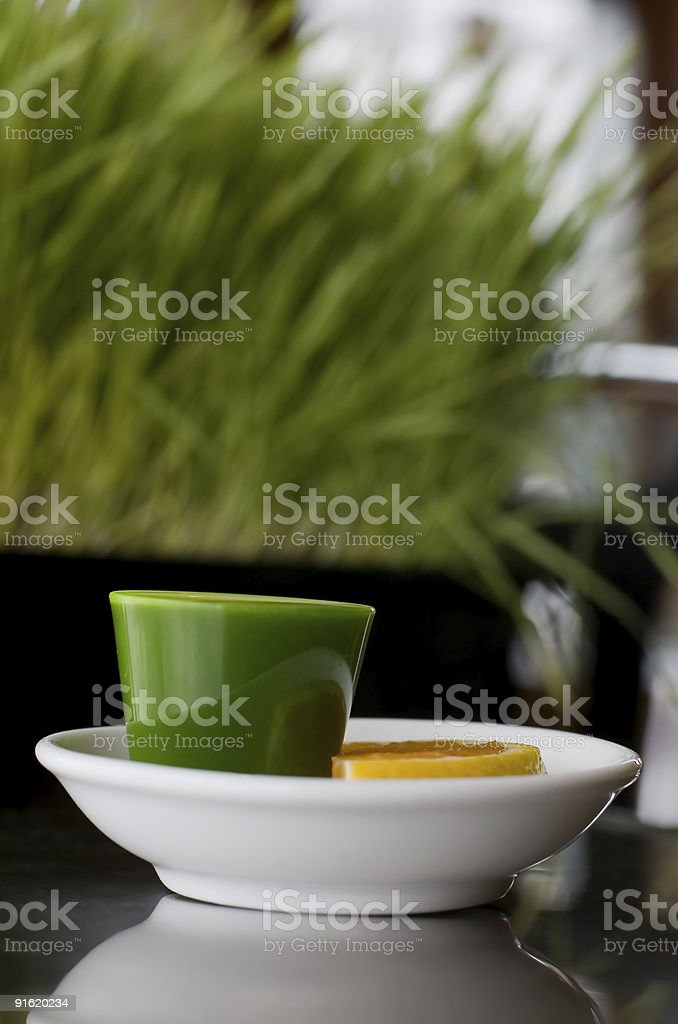 Wheat Grass Shot royalty-free stock photo