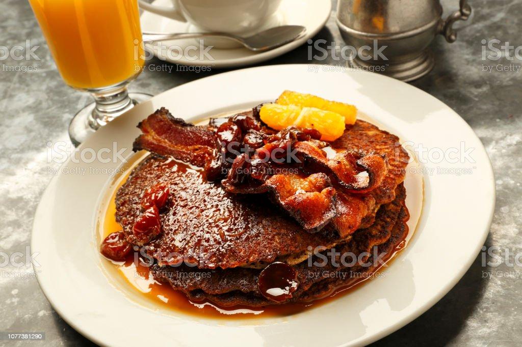 Wheat Pancake Breakfast stock photo