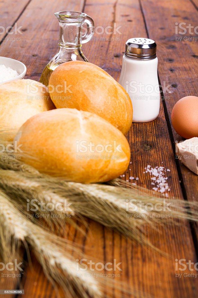 wheat roll stock photo