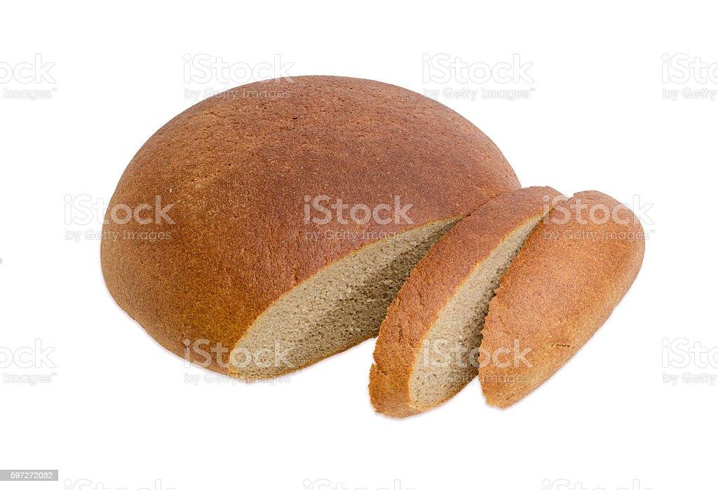 Wheat rye hearth bread on a light background Lizenzfreies stock-foto