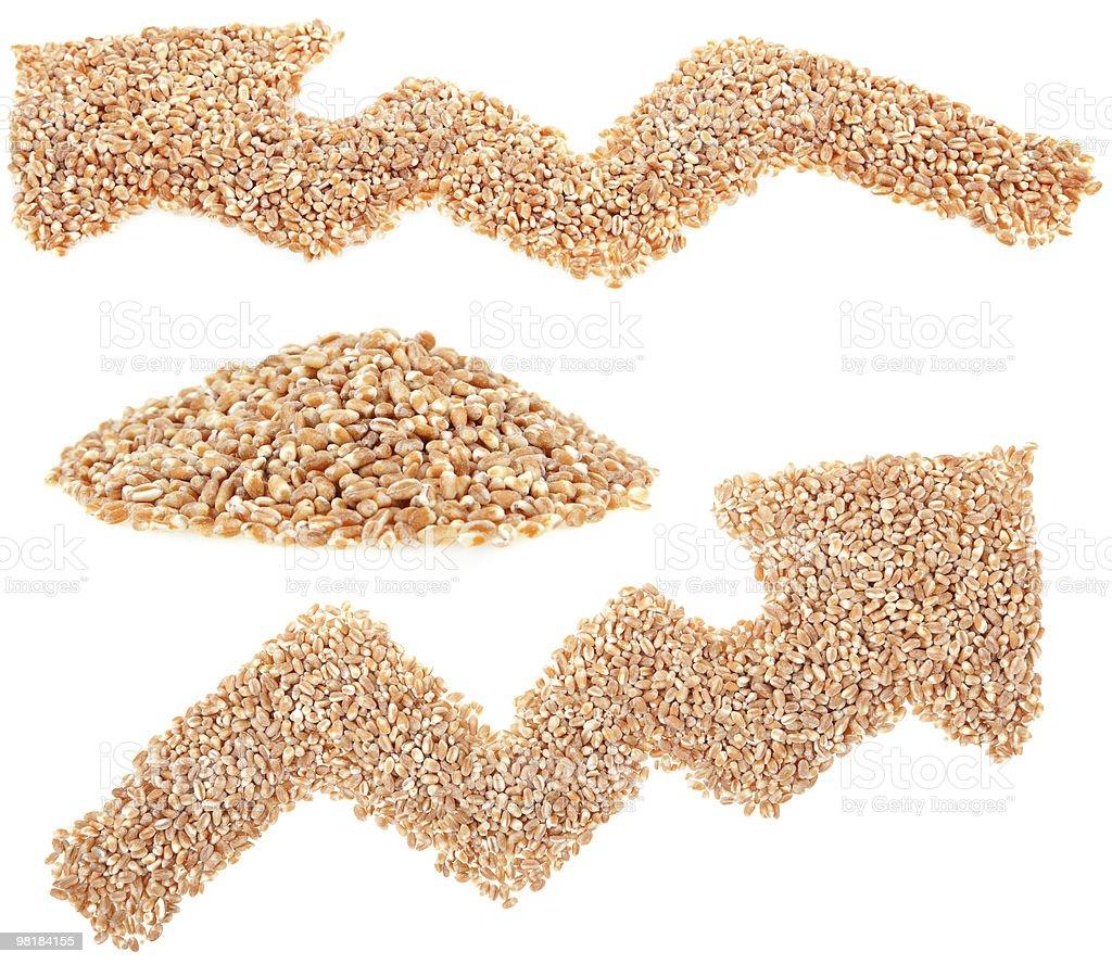 wheat seeds arrow royalty-free stock photo
