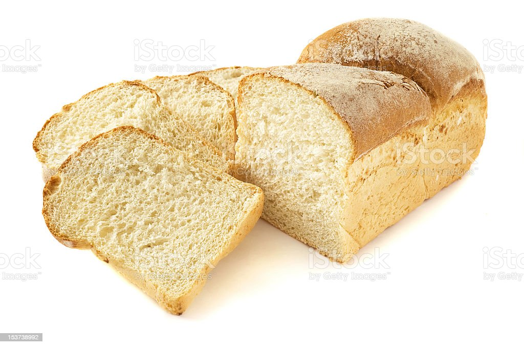Wheaten bread sliced isolated royalty-free stock photo